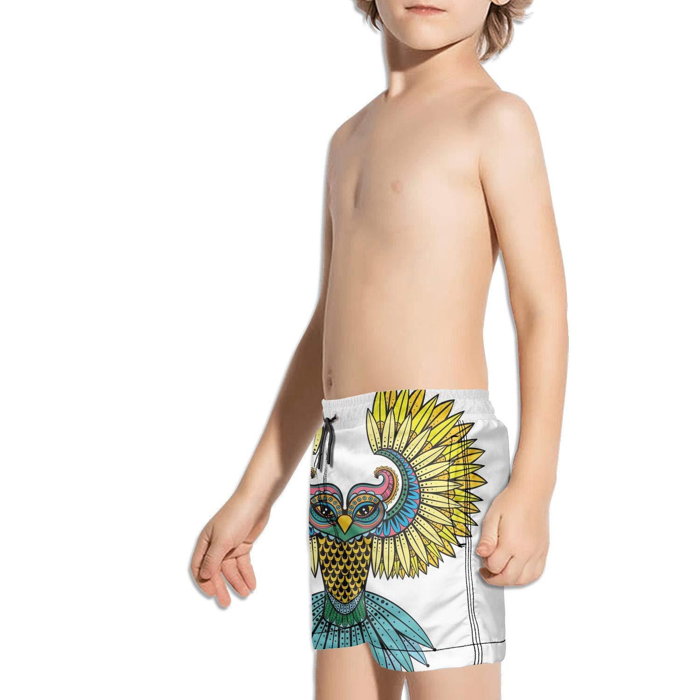 Etstk owl Kids Quick Dry Swim Trunks for Students