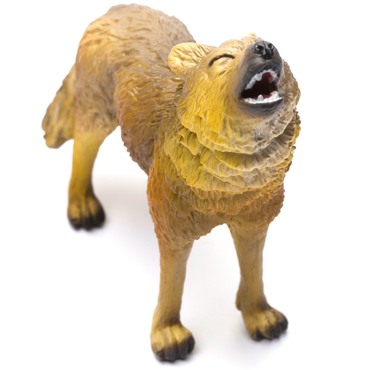 CollectA Woodlands Timber Wolf Authentic Hand Painted Model 88341 Howling Toy Figure