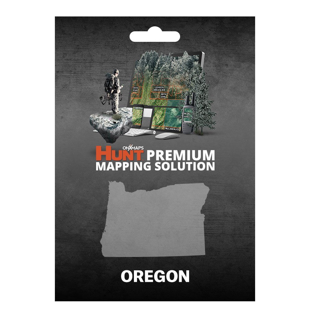 onXmaps HUNT Oregon: Digital Hunting Map For Garmin GPS + Premium Membership For Smartphone and Computer - Color Coded Land Ownership - 24k Topo - Hunting Specific Data