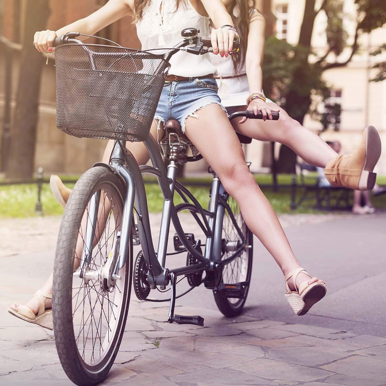 Fahrradkorb Vorne Lenkerkorb Citykorb Drahtkorb Einkaufskorb Stahl 32,5x24x23,5cm Schwarz Abnehmbar