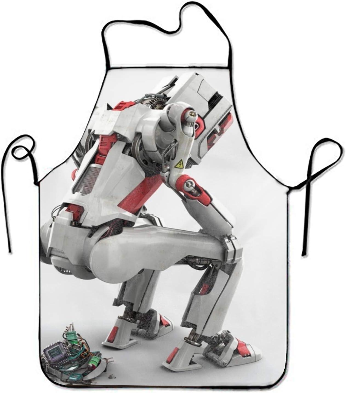 surce Humor Robot Delantal Ajustable para Cocina Barbacoa Barbacoa Cocinera Chef Camarera Gran Regalo para la Mujer Señoras Hombres Novio 28.3 x 20.4 Inch: Amazon.es: Hogar