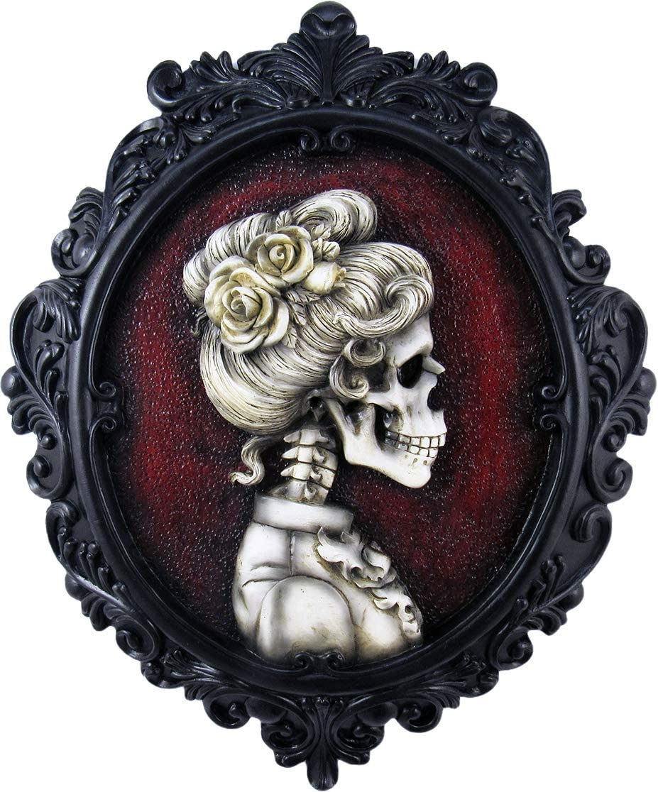 World of Wonders Victorian Gothic Collection Cameo Madam Morticia Gothic Wall Sculptures | Halloween Decorations | Hallway Wall Art | Fall Decorations for Home | Spooky Decor -13.75""