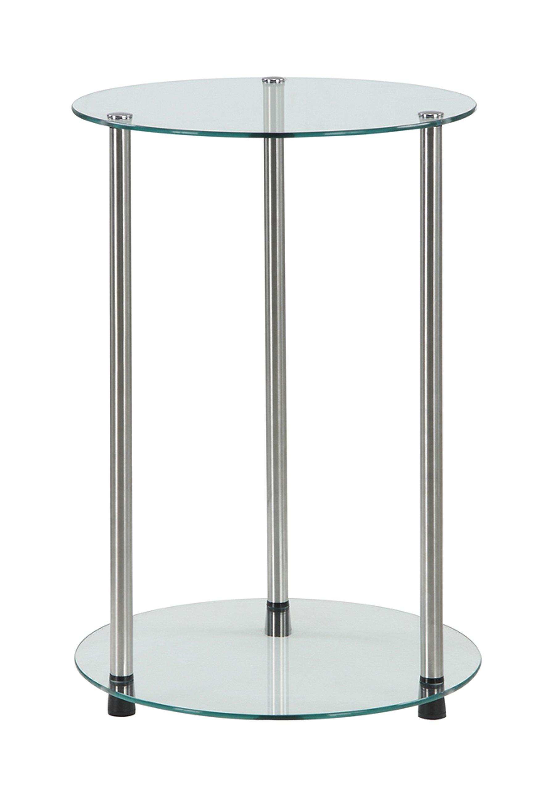 Convenience Concepts Designs2Go 2-Tier Round End Table by Convenience Concepts