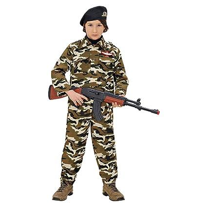 WIDMANN wdm95576 ? Disfraz para niños soldado (128 cm/5 ? 7 años), multicolor, XXS
