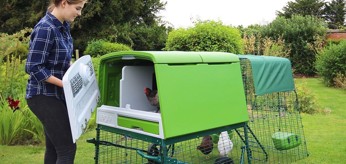 Vert Omlet Nouveau poulailler Eglu Cube avec enclos de 2 m