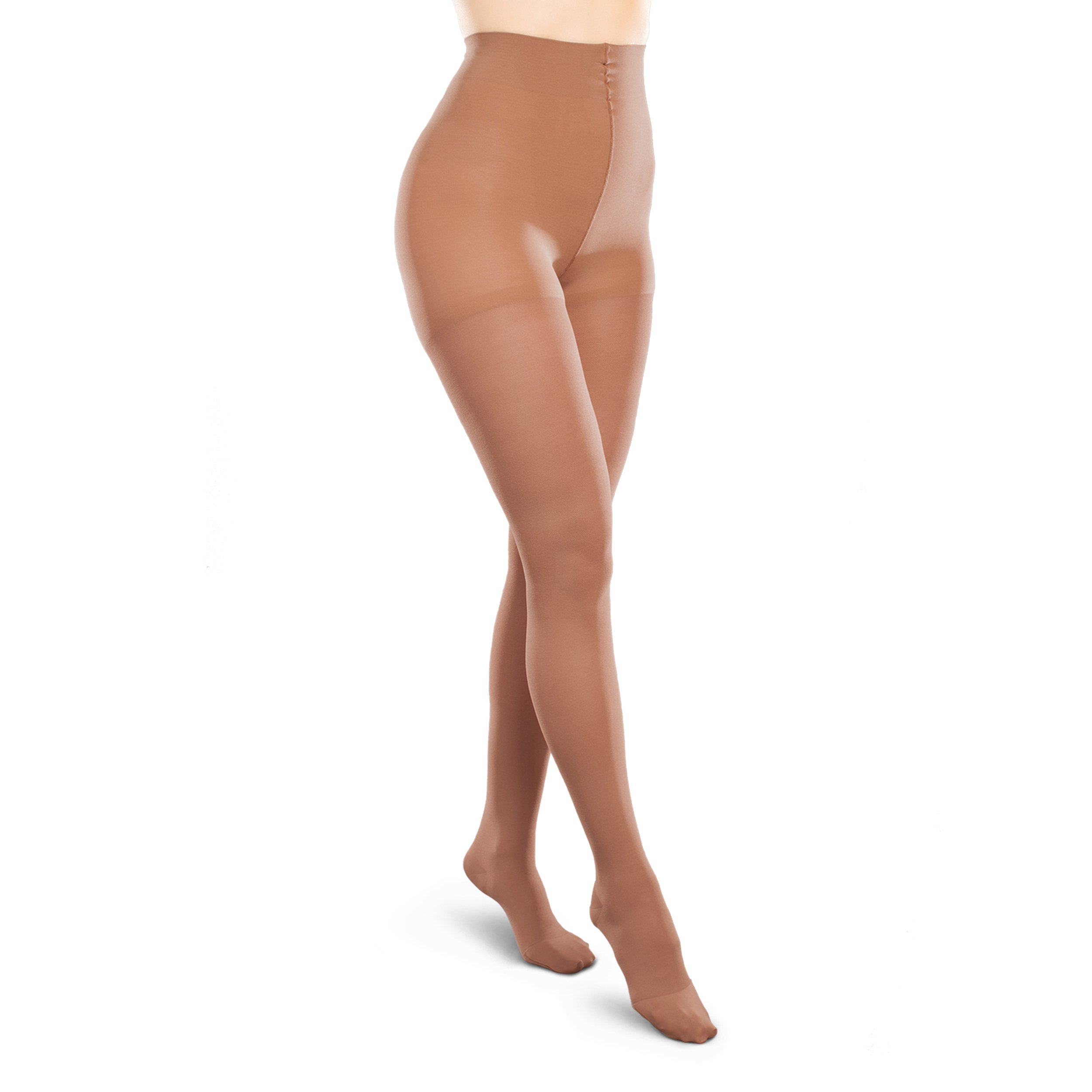 Therafirm Opaque Women's Support Pantyhose - Moderate (20-30mmHg) Graduated Compression Hosiery (Bronze, Medium Long) by Therafirm (Image #1)