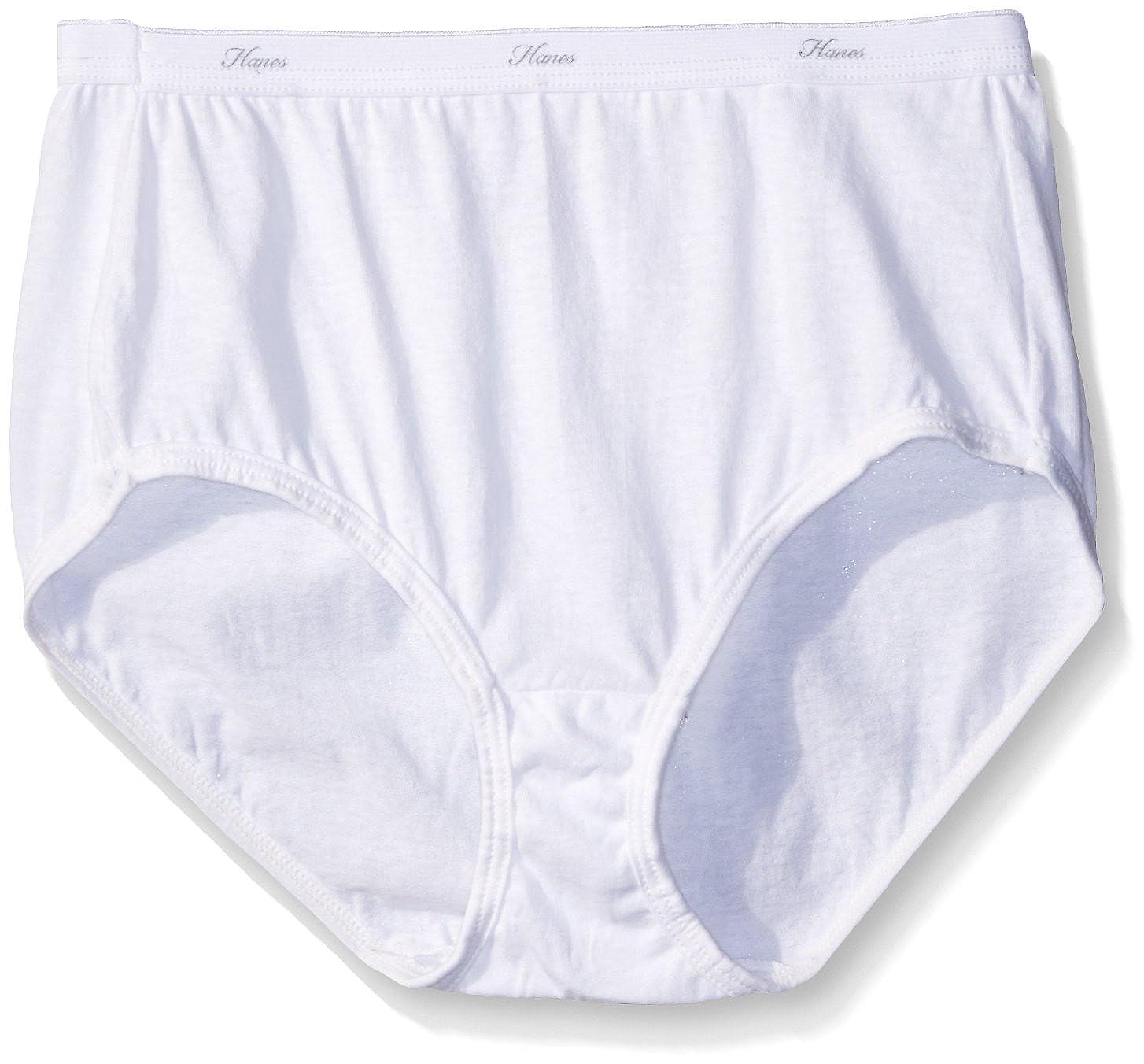 Hanes Womens Plus-Size Plus-Size Cotton Brief Plus Panty (Pack of 3) Hanes Women's Panties D40LWH