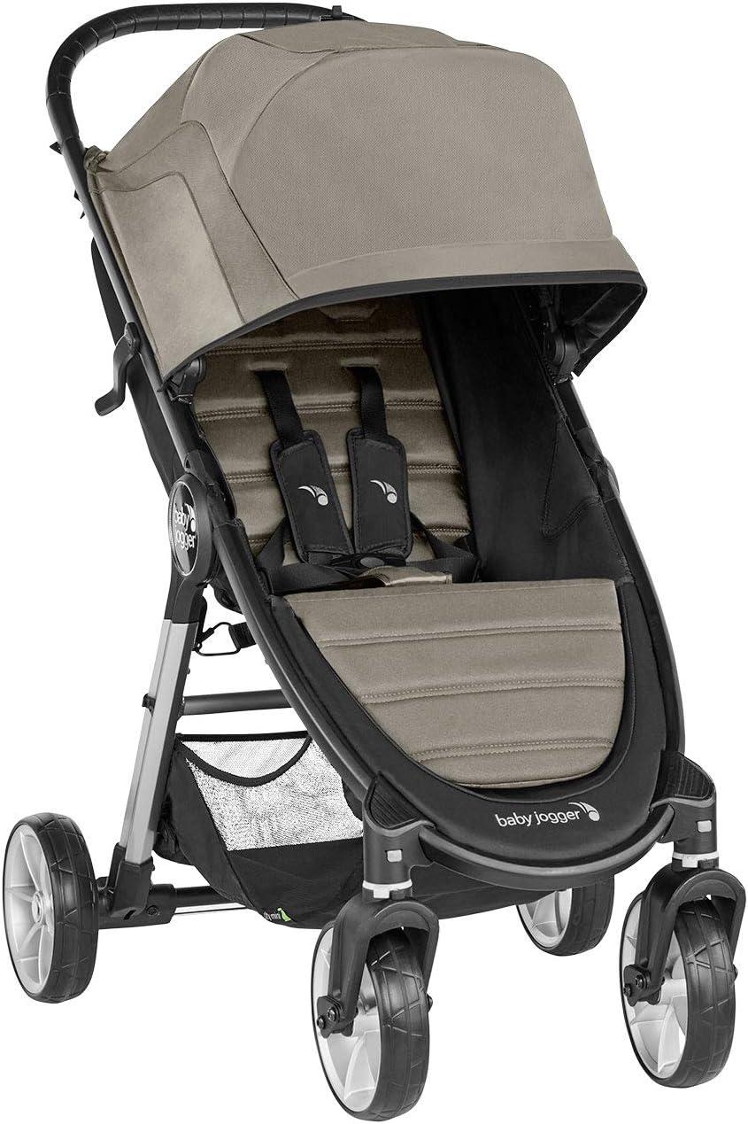 Baby Jogger City Mini 2 de 4 Ruedas Sepia. Silla de paseo desde nacimiento hasta 22kg. Color beige