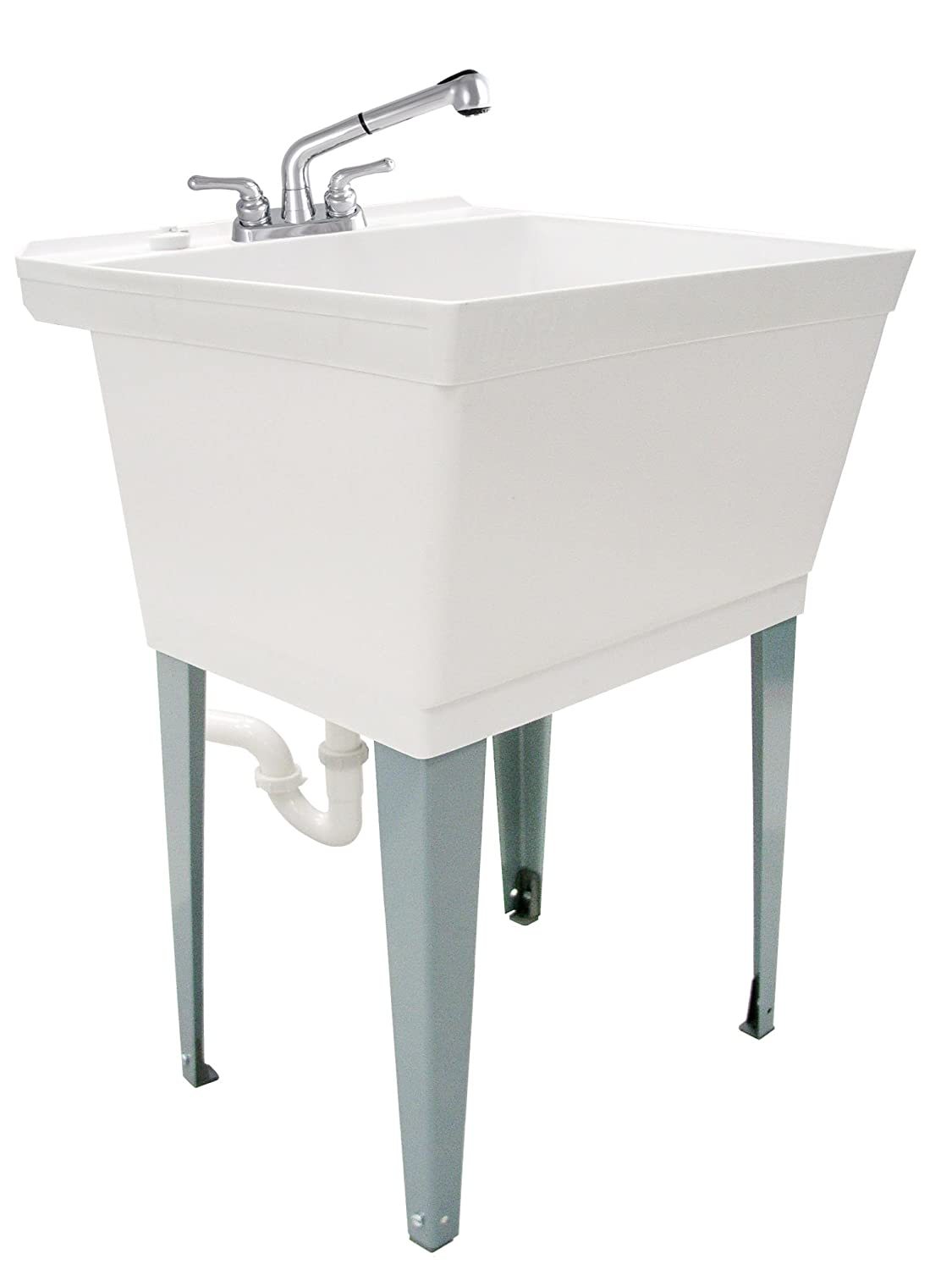 LDR Industries 040 6000 Complete 19 gal Laundry Utility Tub with Pull Out Faucet
