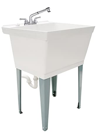 Ldr 040 6000 Complete 19 Gallon Laundry Utility Tub Set With Pull Out Non