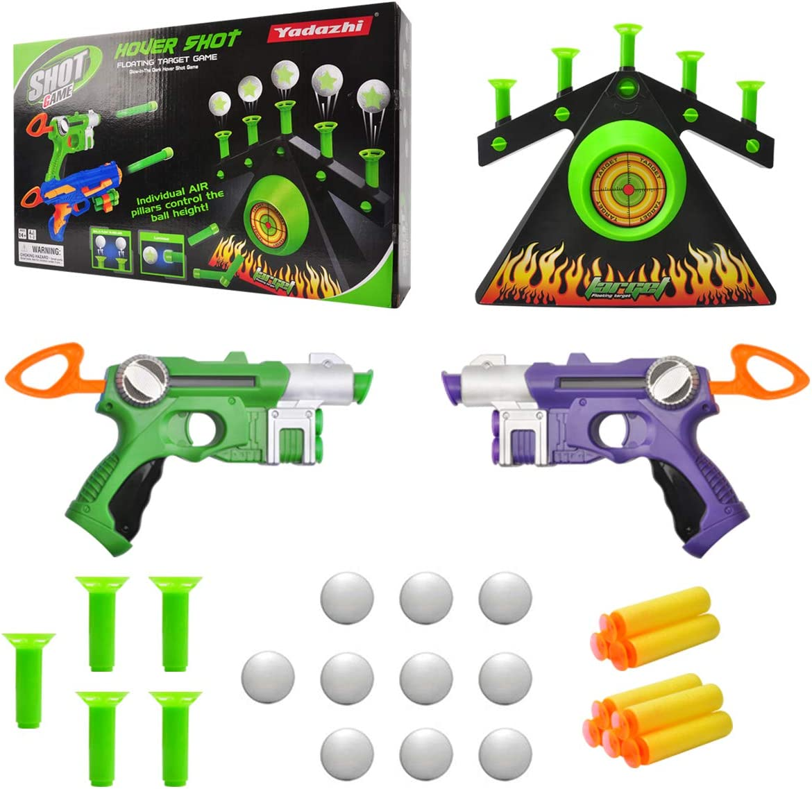 Amazon Com Momsiv Floating Target Game Funny Hover Shooting Floating Target Set Electric Toy For Boys And Girls Foam Dart Blaster Shooting Game Board With 2 Blaster Guns 10 Shooting Darts 10