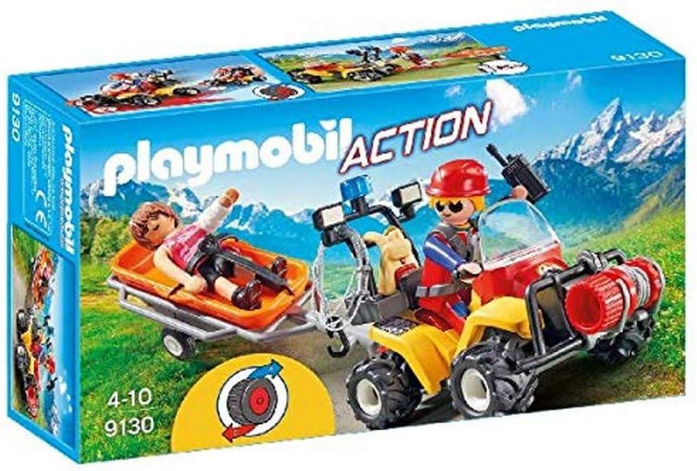 PLAYMOBIL- Quad de Rescate de Montaña (9130): Amazon.es ...