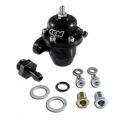 AEM 25-300BK Black High Volume Adjustable Fuel Pressure Regulator: Automotive
