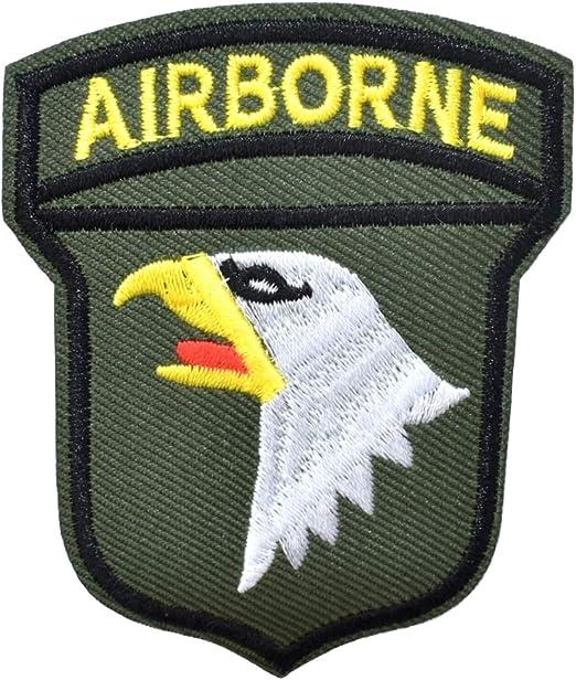 Parche de Airborne de águila, diseño de la Fuerza de los Estados Unidos, Escudo Bordado Militar, para Personalizar Ropa y Accesorios, 8,5 x 7 cm: Amazon.es: Hogar