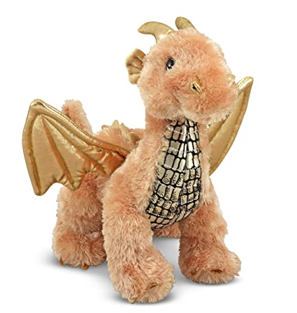 3f3af9b206d Amazon.com  Melissa   Doug Luster Dragon Stuffed Animal  Melissa   Doug   Toys   Games