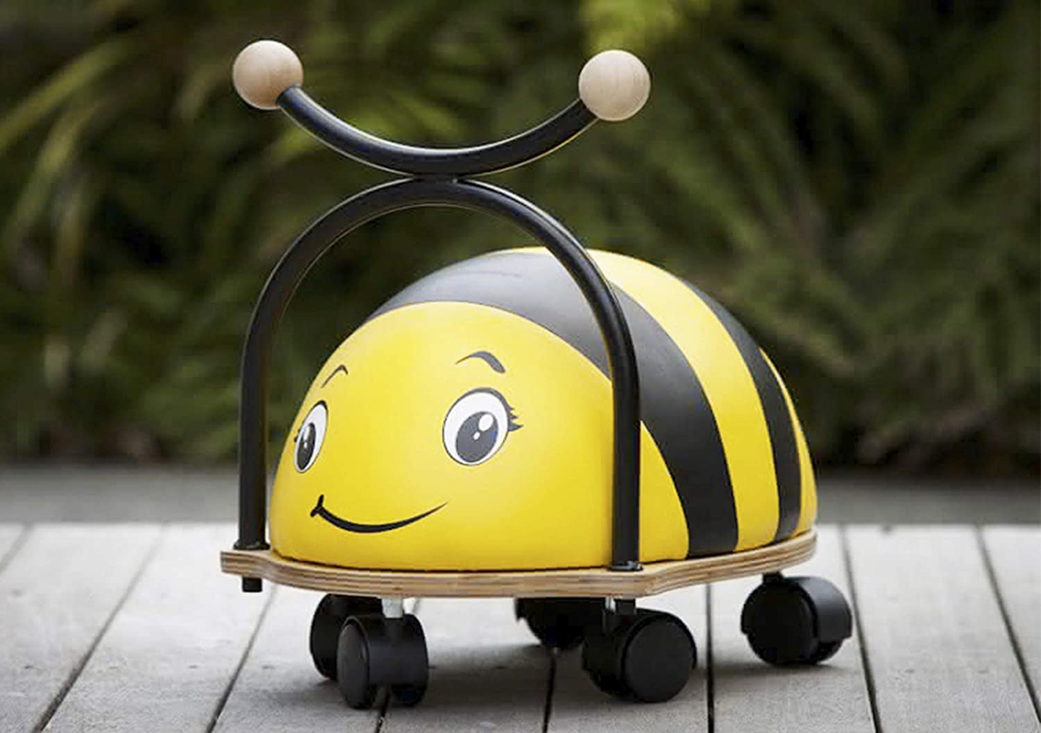 Bumblebee Balance Bug Ride On Bee Toy Wooden Base With Foam And Wipe Clean Cover Wheely Toy By Beehive Toys Amazon Co Uk Toys Games