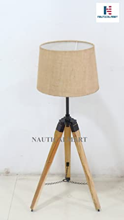 Urban Design Weathered Wooden Tripod Table Lamps Amazon Com