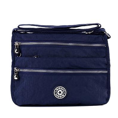 Women s Fashion Shoulder Bags Nylon Crossbody Bags Casual Messenger Bags  (Navy blue)(Size 1eb80d530eab7