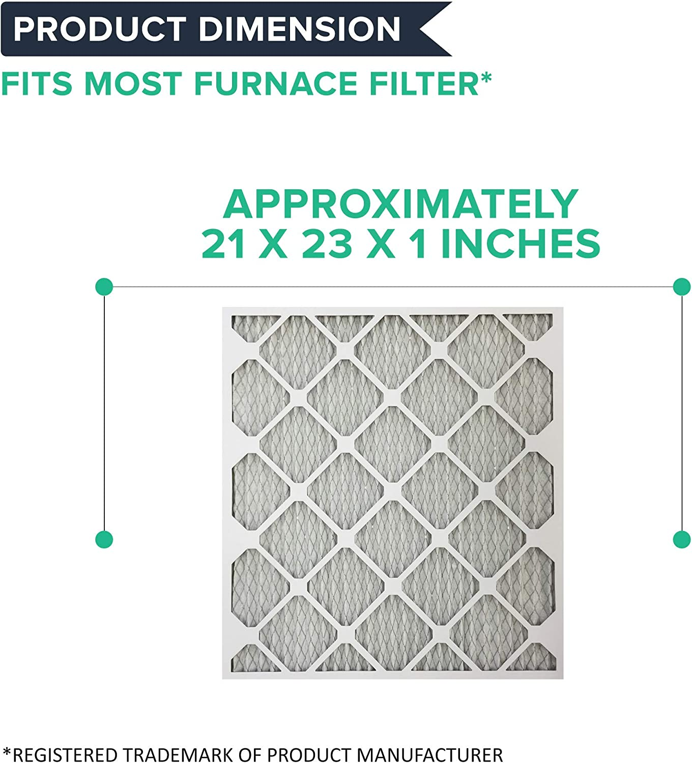 Pleated 2 Pack Renewed Think Crucial Replacement Filter Air Conditioner Filter for 21X23X1 MERV 11 Allergen Air Furnace /& AC Filter