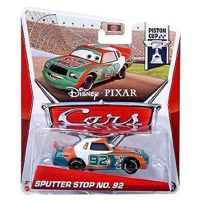 Disney / Pixar CARS MAINLINE 1:55 Die Cast Car Sputter Stop No. 92 [Piston Cup 15/18]: Toys & Games