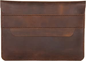 """hecho. Handmade Leather Sleeve Fernando Compatible with MacBook Pro 13"""" (2016, 2017, 2018, 2019 & 2020) & MacBook Air 13"""" (Retina, 2018, 2019 & 2020) Leather (Cover, Bag, Case)"""