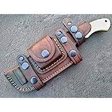 Ottoza Handmade Damascus Tracker Knife with Bone Handle - Survival Knife - Camping Knife - Damascus Steel Knife - Damascus Hu