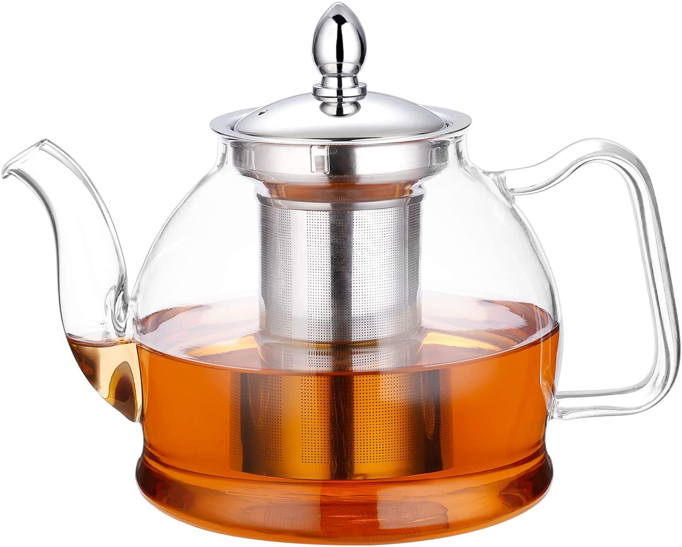 Hiware Glass Teapot Kettle Removable strainer