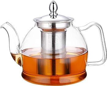 Hiware 1000ml Glass Stovetop Safe Teapot