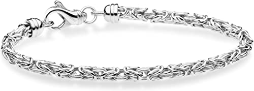 8 6.5 7.5 Miabella 18K Gold Over Sterling Silver 4mm Classic Rope Chain Link Bracelet for Women Men 8.5 Inch 925 Made in Italy 7