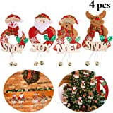 Outgeek 4PCS Christmas Hanging Ornament Creative Christmas Decoration Hanging Decoration