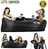 VCSTio Inflatable Lounger Blow Up Air Couch Pool Floating Sofa EasyTo Inflate. IDEAL Summer Gift For The Outdoors,Camping, Hiking, Backpacking, Festivals or Even To Chill At Home