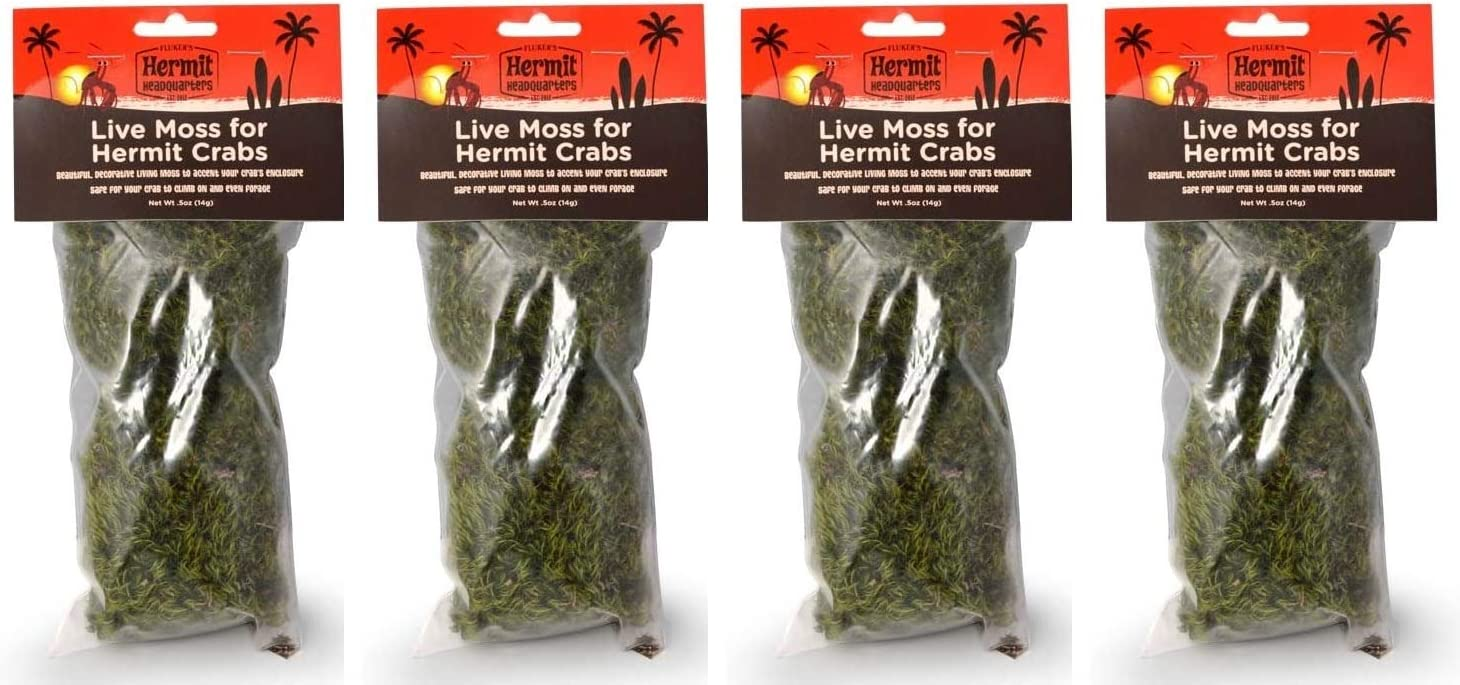 Flukers Live Moss for Hermit Crabs 0.5-Ounce