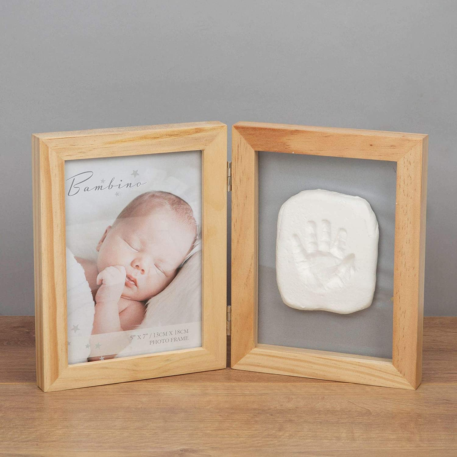 Bambino Natural Folding Frame /& Clay Print Kit The Gift Experience 5 x 7