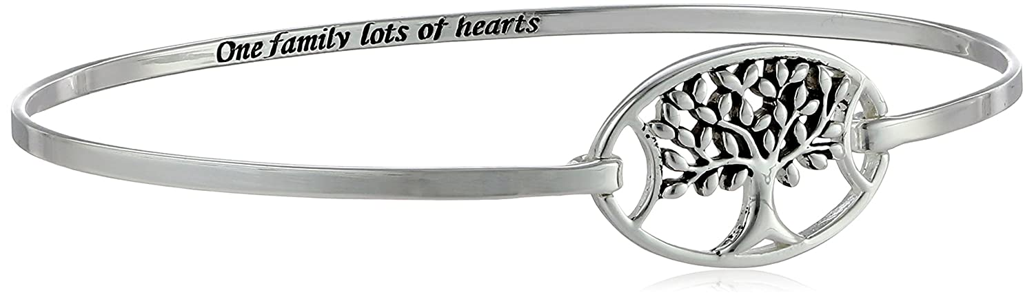 Sterling Silver Tree CatchOne Family Lots of Hearts Bangle Bracelet Amazon Collection 539321
