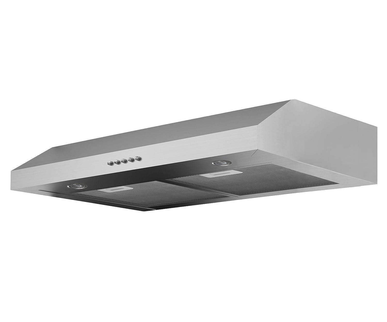Ancona Slim Plus 30 Under-Cabinet Style Range Hood, 30-Inch, Stainless Steel