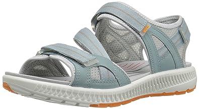 Terra, Sandales de Randonnée Femme, Bleu (Arona/Papaya), 37 EUEcco