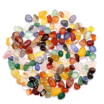 MUJING Cristal Natural Blanco Fragmentos Grava Guijarro o Piedras de Grava cristalina para Acuario Decorativo Acuario o Patio,A: Amazon.es: Hogar