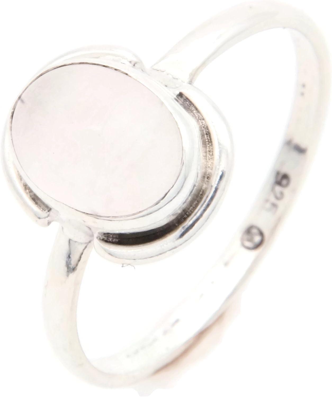 Anillo de plata de ley 925 cuarzo rosa (No: MRI 110)