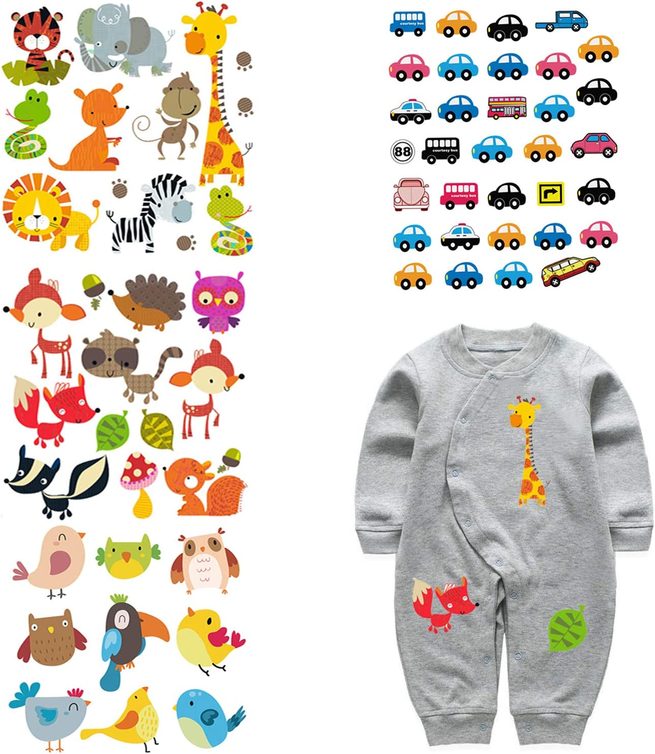 Colorful Clothes Patches Heat Transfer StickerPrinting Iron On Appliques IJ