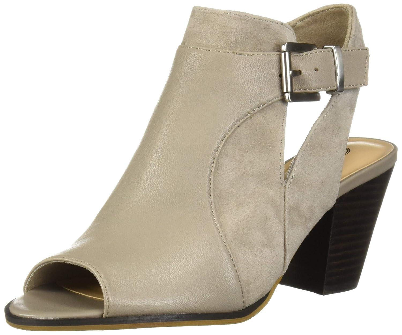 Stone Leather Suede Leather Bella Vita Womens Kellan Block Heel Sandal Heeled Sandal