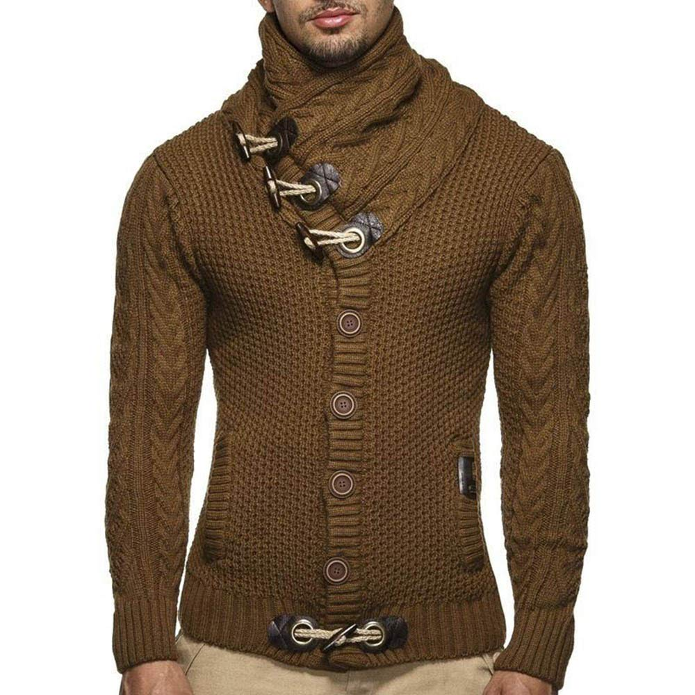 Sevem-D Autumn Winter Cardigan Sweater Coat Men Loose Fit 100% Terylene Warm