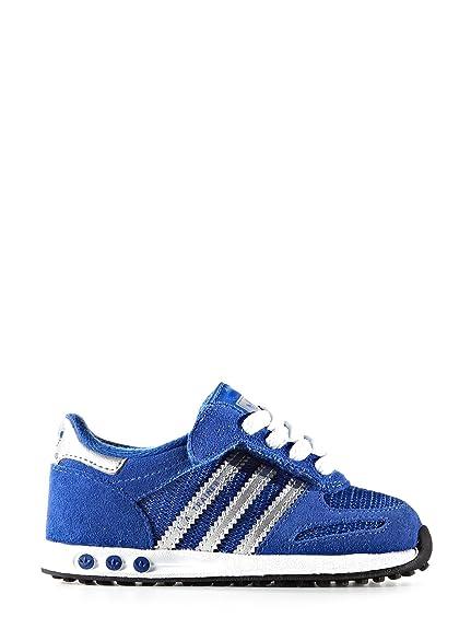 adidas Infant Boys Originals La Trainers in Blue: Amazon.co
