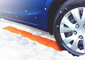 Reusable Revolution Tire Traction Mats & Chock - Emergency Traction Pad