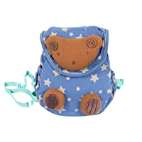 Labebe Cotton Backpack with Safety Harness for Baby Boys & Girls Aged 1-3 Years, Anti-Lost in Crowded Place, Wide & Stuffed Straps with NO Pressure on Shoulders, Quality Guaranteed with CE Certified