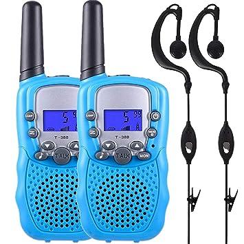 Conthfut Walkie Talkies para niños, walkie talkies de Radio bidireccionales Distancia de intercomunicación de 8 Canales 3 Millas con Auriculares para ...