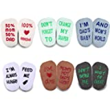 Blulu Baby Socks Gift Set 6 Pair Baby Shower Gifts Anti-slip Cool Baby Gifts Unisex Boy Girl Newborn Present 3-18 Month