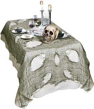 NET TOYS Mantel Halloween Tejido harapiento decoración Mesa 60 x ...
