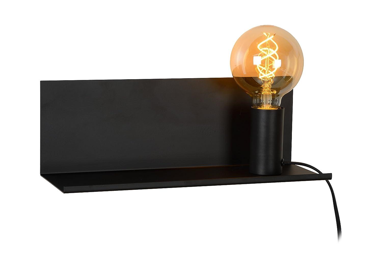 Lucide SEBO - Bettlampe - Schwarz Metall E27, 40 W, schwarz 35 x 12 x 12 cm