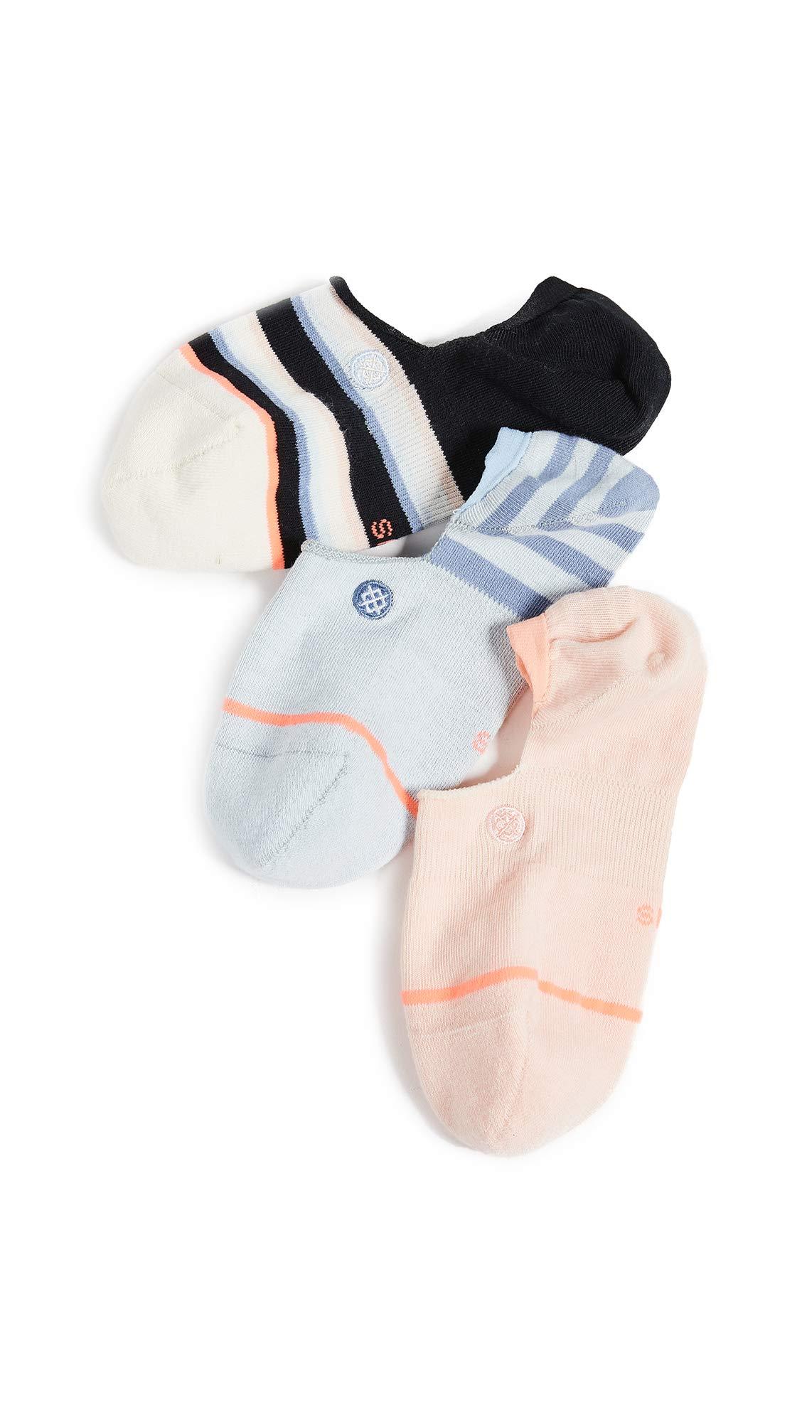 STANCE Women's Back to Basic Invisible 3 Pack Socks, Multi, Medium