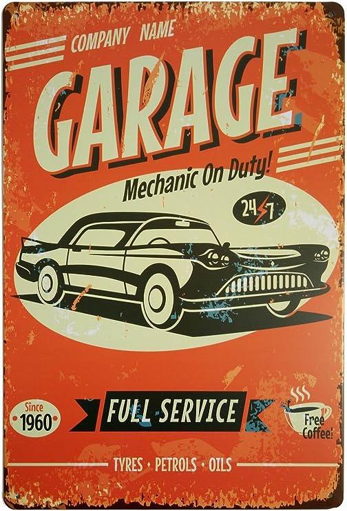 Pontiac Authorized  Service Round Tin Sign Vintage Man Cave Garage Shop Tavern